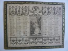 ALMANACH 1840  CALENDRIER 2 Semestres Chromo- Lithographie   Allégorie La Mode Signe Du Zodiac Arabesque - Calendars
