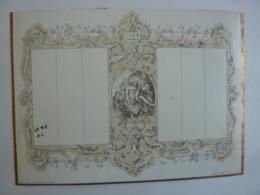 ALMANACH 1840  CALENDRIER SEMESTRIEL Pense-bête Chromo- Lithographie Ch. Fassoli  Allégorie RELIGION  Edit Jundt Fils - Calendriers