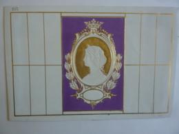 ALMANACH Vers 1869   CALENDRIER  Pense-bête Chromo-    Allégorie Médaillon Portrait - Calendriers