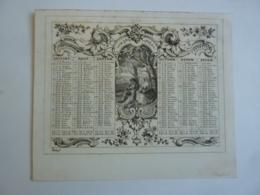 ALMANACH  1854 CALENDRIER SEMESTRIEL  Lithographie    Allégorie Le Dejeuner Sur L'herbe , Arabesque Impr Riester F. - Calendriers