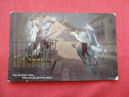 Paul Revere's Ride State House Boston Mass   Ref 3206 - History