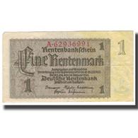Billet, Allemagne, 1 Rentenmark, 1937, 1937-01-30, KM:173b, TB+ - [ 3] 1918-1933 : República De Weimar