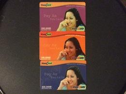 3 RECHARGES GSM VIET- NAM   VINA CARD  *100.000 D *200.000 D *300.000 D   Vina Daily - Viêt-Nam