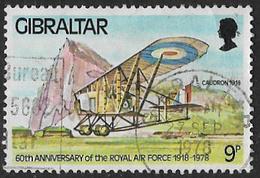Gibraltar SG408 1978 60th Anniversary Of RAF 9p Good/fine Used [27/23867/2D] - Gibraltar