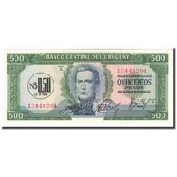 Billet, Uruguay, 0.50 Nuevo Peso On 500 Pesos, KM:54, NEUF - Uruguay