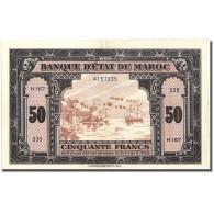 Billet, Maroc, 50 Francs, 1943, 1943-08-01, KM:26a, TTB+ - Maroc