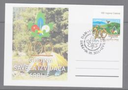 SCOUTS -  SERBIA - 2011 - SCOUTS  MAXI CARD, UNCOMMON ITEM - Lettres & Documents