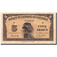 Billet, French West Africa, 5 Francs, 1942, 1942-12-14, KM:28b, SPL - États D'Afrique De L'Ouest