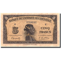 Billet, French West Africa, 5 Francs, 1942, 1942-12-14, KM:28b, SPL - West African States