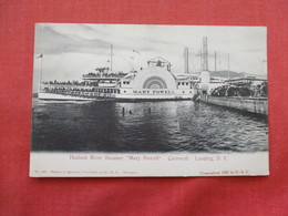 Steamer  Mary Powell Cornwall Landing NY   Ref 3206 - Paquebots