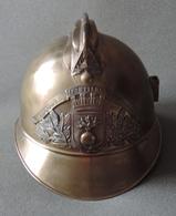 Coque De Casque De Pompier De La Commune De Boubers Sur Canche Dans Le Pas De Calais - Headpieces, Headdresses