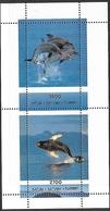 Russia Local  Batum   Marine Mammals Souv Sheet MNH - Whales