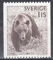 Schweden 1978 - Natur: Braunbaer, Mi-Nr. 1021, MNH** - Suède