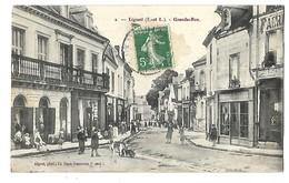 37 LIGUEIL GRANDE RUE 1909 CPA 2 SCANS - Francia