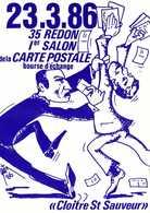 Etienne Quentin 23 3 86 35 REDON  1e Salon De La CARTE POSTALE  RV  500 Ex - Bourses & Salons De Collections