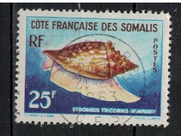 COTE DES SOMALIS        N°  YVERT    313  OBLITERE       ( O   3/ 25 ) - French Somali Coast (1894-1967)
