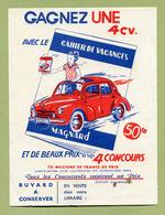 RENAULT 4 CV  ( BUVARD : MAGNARD ) - Automotive