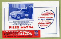 RENAULT 4 CV  ( BUVARD : PILES MAZDA ) - Automotive