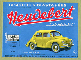 "RENAULT "" 4 CV ""  ( BUVARD : HEUDEBERT ) - Automobile"