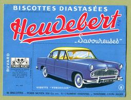 "VEDETTE "" VERSAILLES ""  ( BUVARD : HEUDEBERT ) - Automobile"