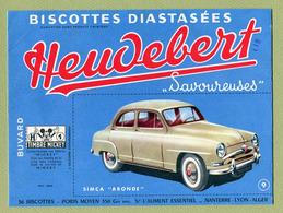 "SIMCA "" ARONDE ""  ( BUVARD : HEUDEBERT ) - Automobile"