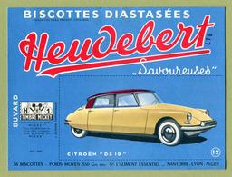 """CITROËN """" DS 19 """"  ( BUVARD : HEUDEBERT ) - Automobile"""