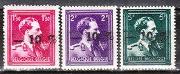 724N/P**  Leopold III Col Ouvert Surchargé -10% - GAND - Série Complète - MNH** - LOOK!!!! - 1946 -10%
