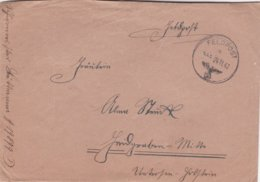 German Feldpost WW2: From Crete - Grenadier-Regiment 16 (4. Kompanie/I)  FP 19899D P/m 24.11.1942 - Letter Inside (A502) - Militaria