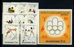 ALBANIEN 1975 Nr 1807-1814 Postfrisch (112587) - Olympische Spiele