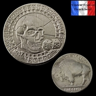 REPRODUCTION Hobo - Nickel Five Cents Buffalo 1937 D ( Ref 1 ) - Etats-Unis