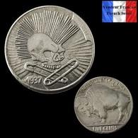 REPRODUCTION Hobo - Nickel Five Cents Buffalo 1937 D ( Ref 2 ) - Etats-Unis