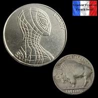 REPRODUCTION Hobo - Nickel Five Cents Buffalo 1937 D - Spiderman Spider-Man - Etats-Unis