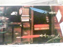 Ceska Republika Auguri Scrivania Candela Penna D'oca Libri  Libreria Biblioteca  VB1966 HB8419 - Repubblica Ceca