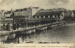 Militaria 1914 Un Pont Provisoire à LAGNY RV - Lagny Sur Marne