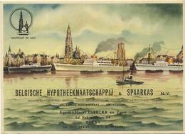 DIEST : Belgische Hypotheekmaatschappij & Spaarkas   20 X 14.5 Cm  (  See Scan For Detail ) - Buvards, Protège-cahiers Illustrés