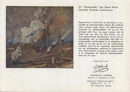 Darmstadt : Eugeen Bracht : ( Hermannshütte ): Chemische Fabriek EMEDIA Brussel ::: 15 X 21.5 Cm (see Scan For Detail) - Buvards, Protège-cahiers Illustrés