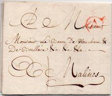 LAC - BELGIQUE - 1773 Vers MALINES - AA5 - 1714-1794 (Pays-Bas Autrichiens)