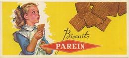 Biscuits PAREIN    19 X 8.5 Cm (see Scan For Detail) - Buvards, Protège-cahiers Illustrés