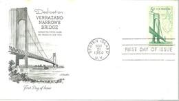 FDC 1964 USA - Puentes