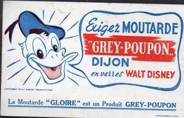 Dijon (21 Côte D'or)  Buvard Moutarde GREY-POUPON   (illustr Walt Disney) (PPP10270) - Mostaza