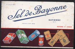 Bayonne (64 Pyrénées Atlantiques) Buvard SEL DE BAYONNE  (PPP10272) - Buvards, Protège-cahiers Illustrés