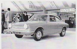CARTE POSTALE VOITURE SIMCA 1000 COUPE DE 1963 -  10X15 CM - PKW