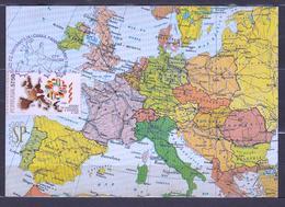 Portugal 1986 Postal Máximo Adesão Europa Maxicard Maximum Mapa Maps Carte Karte Abrantes Afinsa 1746 - Geografía