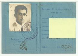 Tessera U.M.I. - UNIONE MONARCHICA ITALIANA Del 28/5/1946 - Documenti Storici