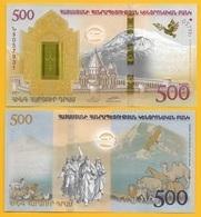 Armenia 500 Dram P-60 2017 Commemorative (without Folder) UNC - Armenia