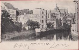 Mechelen Malines Vue Sur La Dyle -Zicht Opde Dijle Muurreclame Meubelfabriek A. Van Den Eynde Smets (Zeer Goede Staat) - Malines