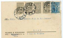 AUTRICHE CP PRIVEE 1925 WIEN TIMBRES PERFORE P.S.& K. (KALMAN & SCHUSCHNY) - Lettres & Documents