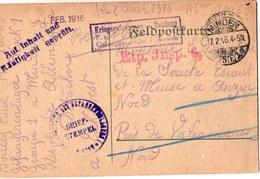 CARTE DE PRISONNIER  GUERRE 1914 18  CACHET MINDEN 1916 - Marcophilie (Lettres)