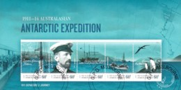 Australian Antarctic 2011 Expedition - 1911 Departure Minisheet CTO - Australian Antarctic Territory (AAT)