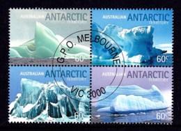 Australian Antarctic 2011 Landscapes - Icebergs Block Of 4 CTO - Australian Antarctic Territory (AAT)